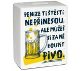 Albi Moneybox ceramic brick Beer 10 cm x 11.8 cm x 5 cm