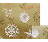 Nekupto Gift wrapping paper 70 x 200 cm Christmas golden white flask