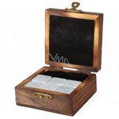 Albi Whiskey Cooling Stones, 6 cooling stones in a wooden gift box