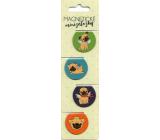 Albi Magnetic mini bookmarks Pugs diameter 3 cm 4 pieces