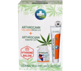 Annabis Arthrocann Collagen Omega 3-6 Forte food supplement 60 tablets + Annabis Arthrocann hemp gel with colloidal silver for joints, tendons muscles and back 75 ml, gift set