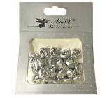 Silver bells 1.5 cm 20 pieces