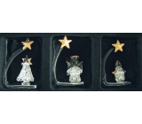 Angel Set of glass l, tree, candle 6 cm