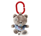 Me to You Tiny Tatty Teddy Medvídek pískátko v modrém tričku 10 cm
