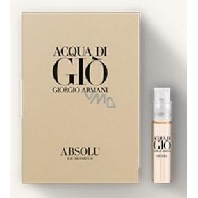Giorgio Armani Acqua di Gioia H Absolu edt 1.2ml vial