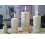 Lima Starlight candle white / gold cylinder 70 x 150 mm 1 piece