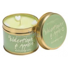 Bomb Cosmetics Elderflower and Apple Scented natural, handmade candle in a tin jar burns up to 35 hours