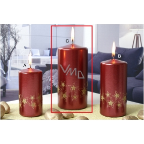 Lima Starlight candle gold / red 70 x 150 mm 1 piece