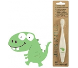 Jack N Jill BIO Dino extra soft toothbrush for children, decomposable in nature, made of corn starch, without BPA and PVC
