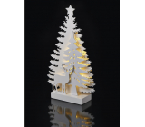 Emos Decoration forest and deer standing 35 x 20.5 cm - 15 LED warm white + timer