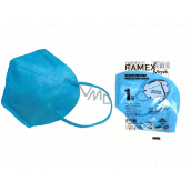 Famex Respirator oral protective 5-layer FFP2 face mask blue 1 piece