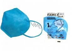 Famex Respirator oral protective 5-layer FFP2 face mask blue 1 piece