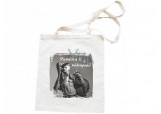 Bohemia Gifts Canvas bag with print I will help you with the purchase of 42 x 38 cm