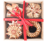 Straw ornaments 16 pieces