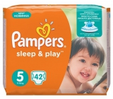 Pampers Sleep & Play 5 Junior 11 - 25 kg plenkové kalhotky 42 kusů