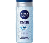 Nivea Men Pure Impact shower gel for body, face and hair 250 ml