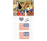 Arch Tattoo decals for face and body USA, American flag 2 motif