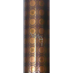 Zöwie Gift wrapping paper 70 x 150 cm Brown-copper with stars and glitter