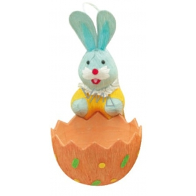 Bunny with a basket orange 12 x 6 cm