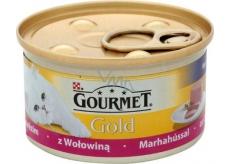 Gourmet Gold Cat Hovězí jemná konzerva pro dospělé kočky 85 g