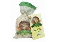 Bohemia Gifts & Cosmetics Beer Spa Pivní koupelová sůl pro stimulaci a uvolnění napětí v plátěném sáčku 150 g