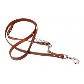 B&F Leather leash Grazl pattern acorn-dark brown 1.8 x 240 cm