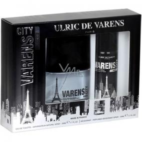 Ulric de Varens City Paris for Men eau de toilette 50 ml + deodorant spray 50 ml, gift set