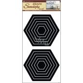 Room Decor Wall stickers hexagon black 60 x 32 cm