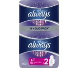 Always Platinum Ultra Super Plus Duo sanitary napkins with 14 wings