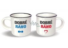 Pair Mini Mugs UNI NPH 001 Good Morning