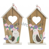 Buddle with wooden bird 17.5 cm for hanging / standing 1 piece