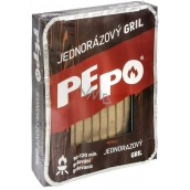 Pepo disposable grill, grilling time 90-120 minutes