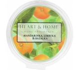 Heart & Home Tangerine, lime and basil Soya natural scented wax 27 g