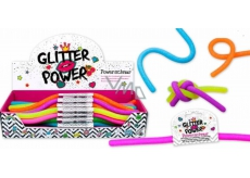 Power Schnur elastic plastic that can be expanded to 2 meters! glitter - violet
