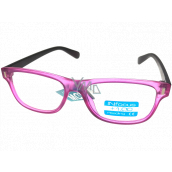 Berkeley Reading glasses +1.0 plastic pink, brown side 1 piece R4077