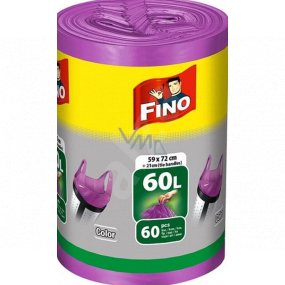 Fino Color Trash bags with handles purple 60 liters 59 x 72 cm 13 µ 60 pieces