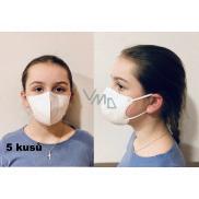 Crdlight Respirator FFP2 face mask for children white 5 pieces