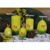 Lima Spring motif candle yellow egg small 40 x 60 mm 1 piece