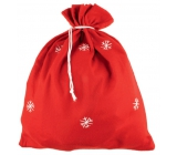 Santa Claus / Santa bag red with snowflakes 90 x 60 cm