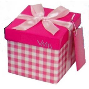 Angel Folding gift box with ribbon light pink cube 10 x 10 x 10 cm 1 piece
