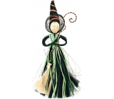 Witch with a green skirt 25 cm
