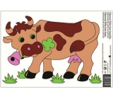 Room Decor Window foil without glue cow 33 x 23 cm