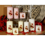 Lima Poppy scented candle white with decal cube 45 x 45 mm 1 piece