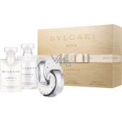 Bvlgari Omnia Crystalline toaletní voda pro ženy 40 ml + tělové mléko 40 ml + sprchový gel 40 ml, dárková sada