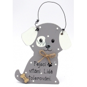 Nekupto Pets Wooden sign Dogs welcome ... 12 x 8 cm