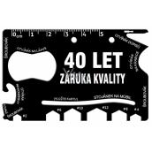 Albi Wallet Multi-Tool 40 Years Quality Guarantee 8.5 cm x 5.3 cm x 0.2 cm