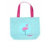 Albi Original Cloth Bag Flamingo 40 x 35 cm, ear length 55 cm