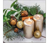Aha Christmas paper napkins 3 ply 33 x 33 cm 20 pieces 2 candles, cinnamon and decorations