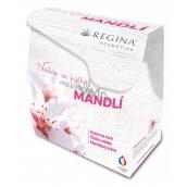 Regina Almond oil hand cream 60 ml + cleansing milk 200 ml + skin cream. 45 g, gift set