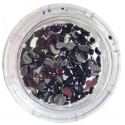 Professional Nail Decorations Rhinestones Teardrop Purple 132